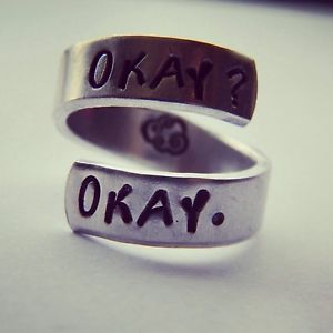 Okay Okay Tfios Inspired Aluminum Twist Ring | eBay