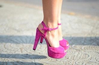 shoes pink high heels heels pink heels plateforme sandales