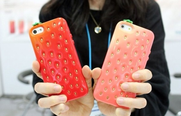 jewels phone iphone phone cover phone cover strawberry cute
