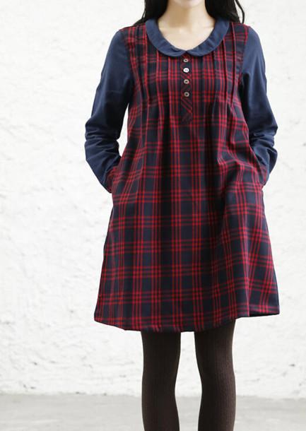 dress plaid dress