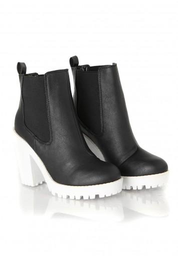 Aleksus Contrast Wedge Boot - Footwear - Missguided