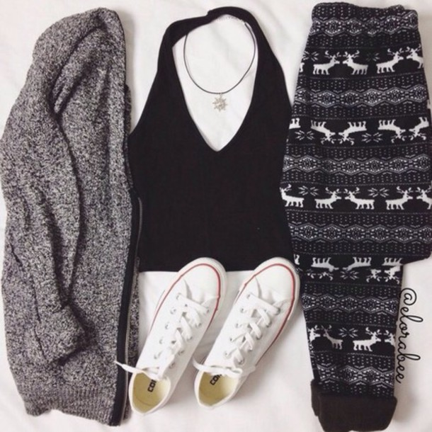 cardigan tank top pants