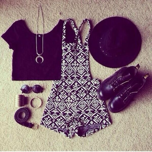 t-shirt dress hat jewels crop tops round sunglasses moon jumpsuit