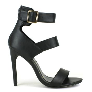 Fahrenheit Lenka-01 High Heel Sandal in Black @ ippolitan.com on Wanelo