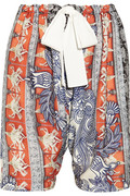 Printed crepe de chine shorts | Clover Canyon | THE OUTNET