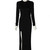 Black Open Leg Maxi Dress | Outfit Made