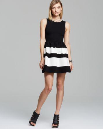 Aqua Dress - Striped | Bloomingdale's