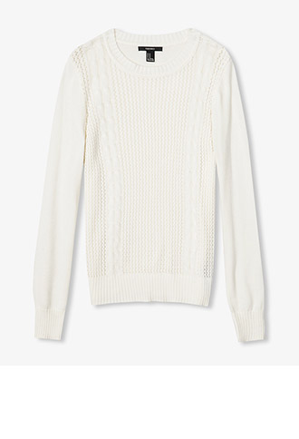 Ribbed Cable Knit Sweater | FOREVER21 - 2022088988