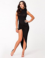 High Neck Side Rouched Dress - Club L - Black - Party Dresses - Clothing - Women - Nelly.com