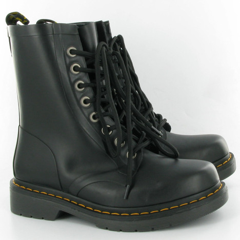 Dr Martens Drench Vulcanised Rubber Wellies in Black