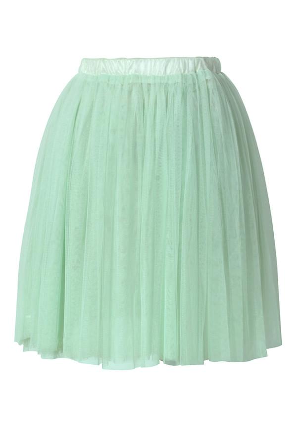 skirt pleated tulle skirt green tender green chic blogger
