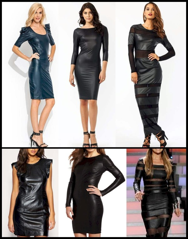 dress leather dress leather dress leather dress punk rock sexy