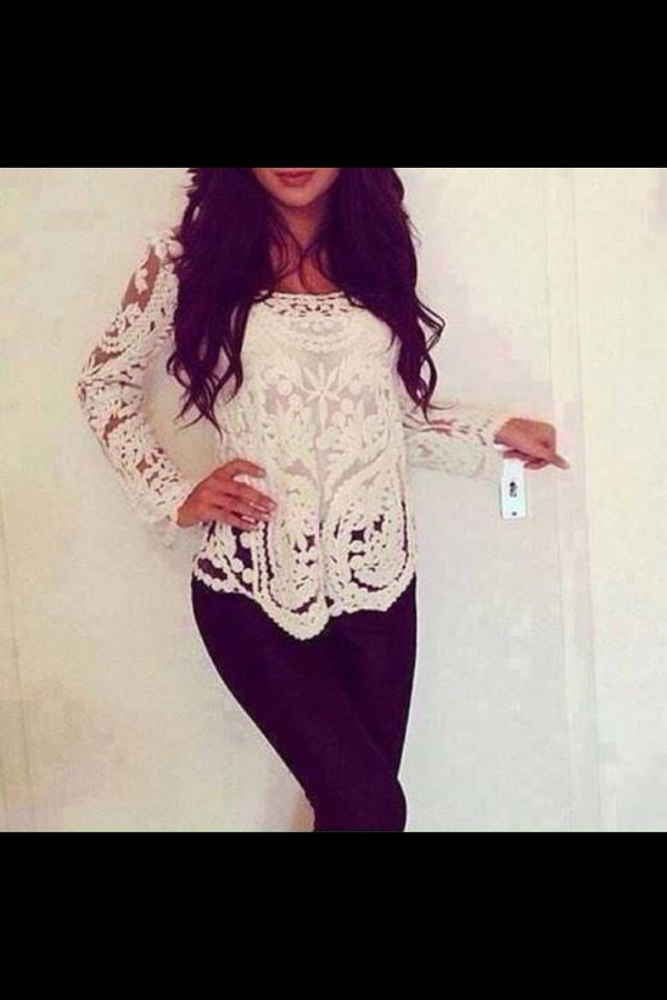 top lace top t-shirt