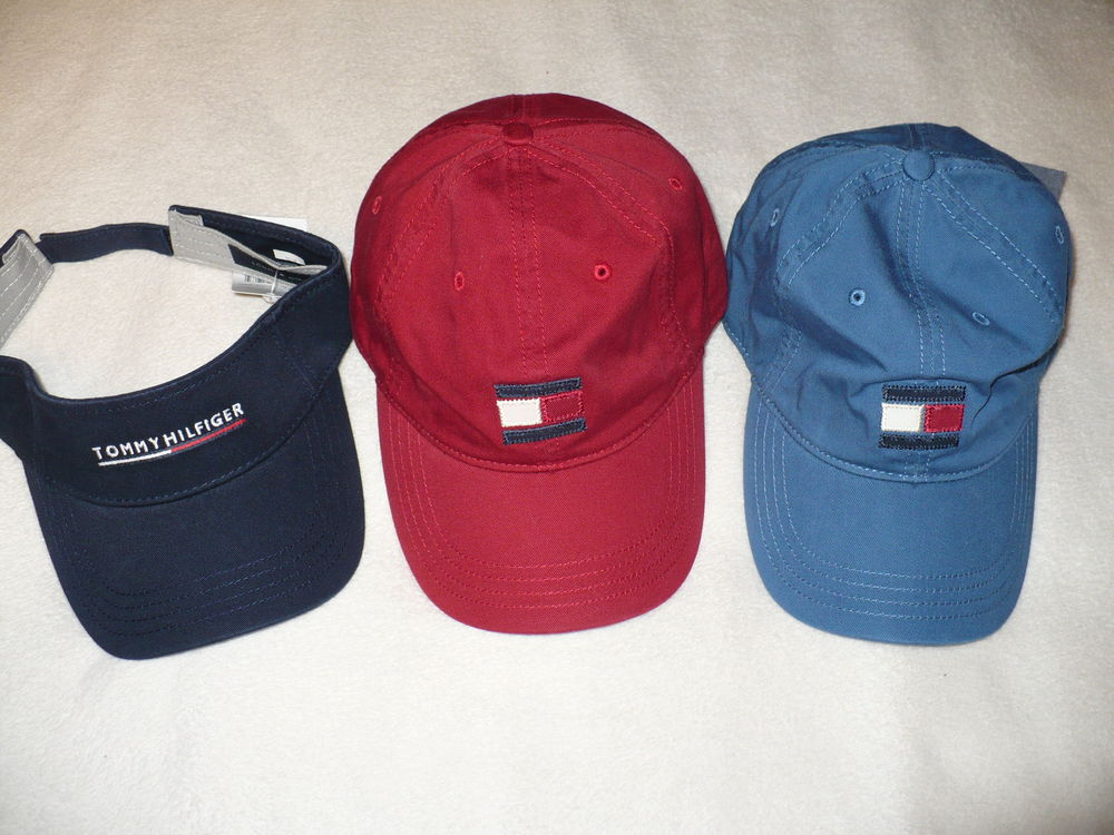 New Tommy Hilfiger Mens Hat Ball Cap Baseball Visor One Size Adjustable TH | eBay