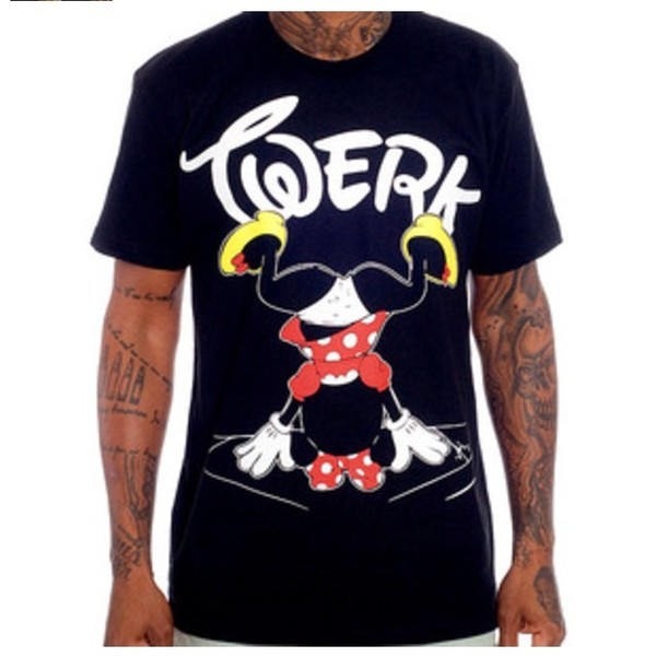 shirt disney mini mouse white black red cool shirts werk