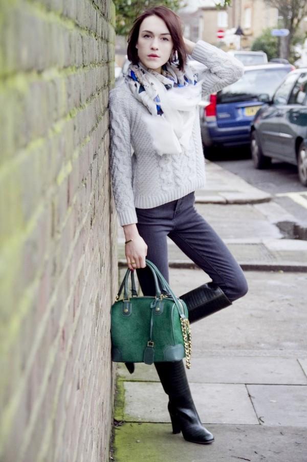 la petite anglaise scarf jeans shoes sweater bag jewels