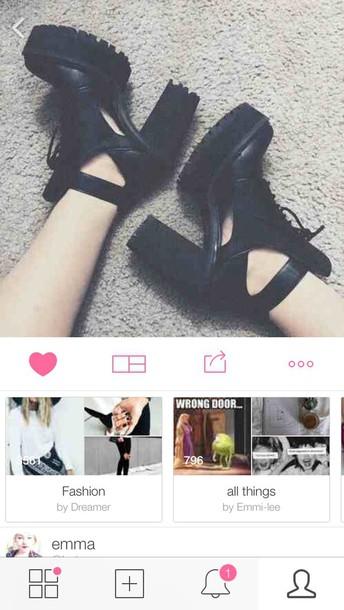 shoes black heels heels grunge black boots