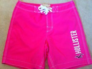 Men's Dudes Swim Board Shorts From Hollister Size M Bright Pink | eBay