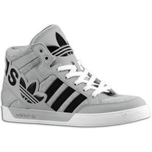 Adidas Originals Hard Court Hi Big Logo Medium Grey Heather/Black/Aluminum    Kicks Store Ltd