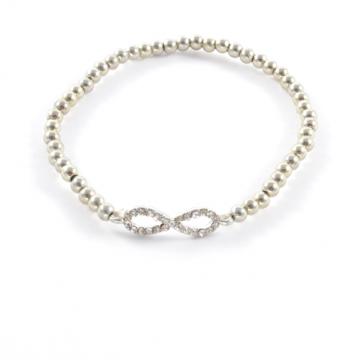 Rhinestone Embellished Infinity Bracelet