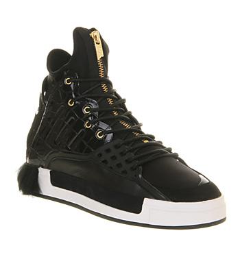 Adidas Y3 Riyal Black Croc Fur - Hers trainers