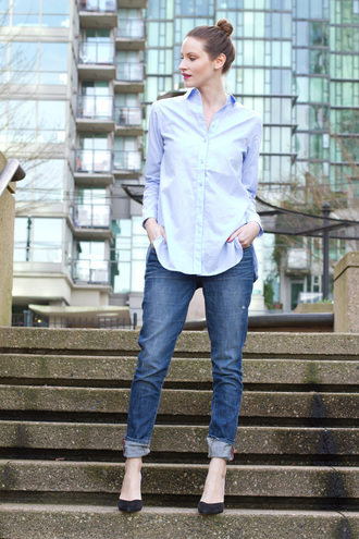 styling my life blogger jeans blue shirt shirt shoes bag