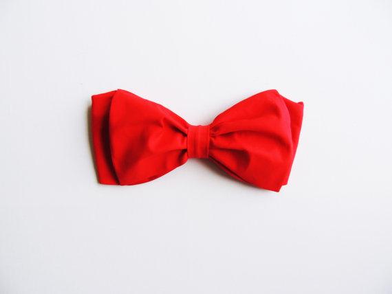 Sale. Size M Red Bow Bandeau Bikini Style Halter by PitaPataDiVa