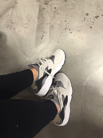 shoes huarache sneakers beige nike