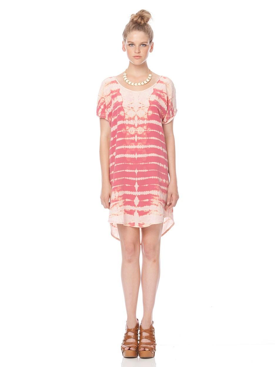 Gypsy05.Com - Official Website :: Shop Women Mini Dresses - Lakota Short Sleeve Scoop Back Dress