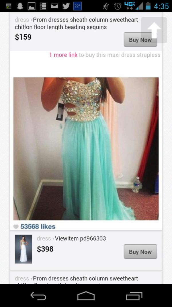 dress diamonds light blue prom dress