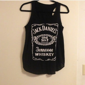Jack Daniels Top Tee Tank Shirt Black White Whiskey   eBay