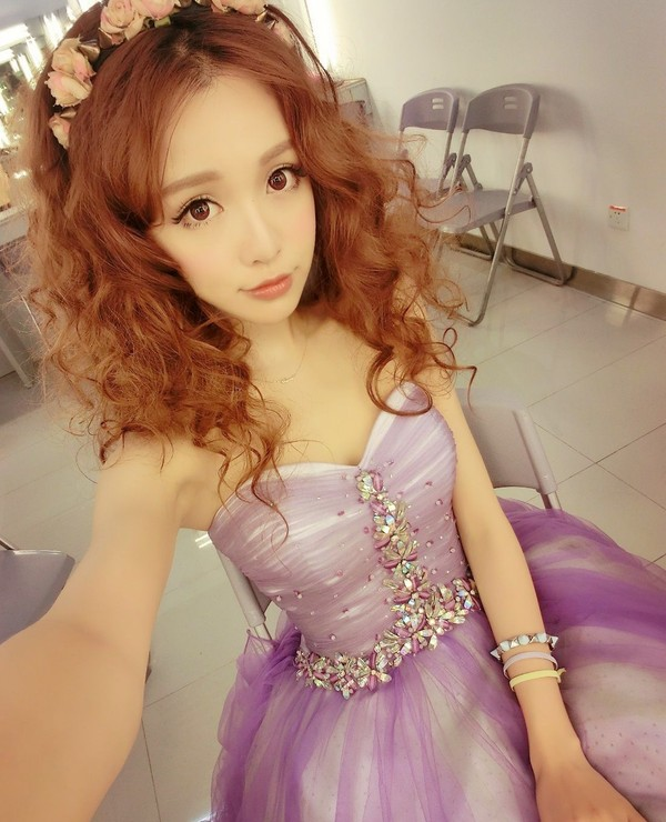 dress flower headband kawaii dress hat purple prom dress dress girly purple dress
