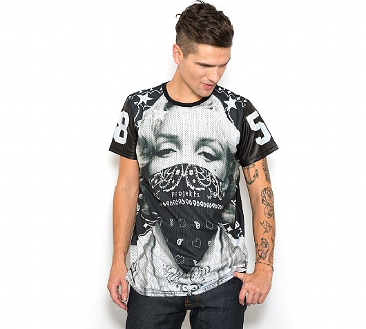 PROJEKTS NYC Kennedy Mesh T-Shirt   Black   Footasylum