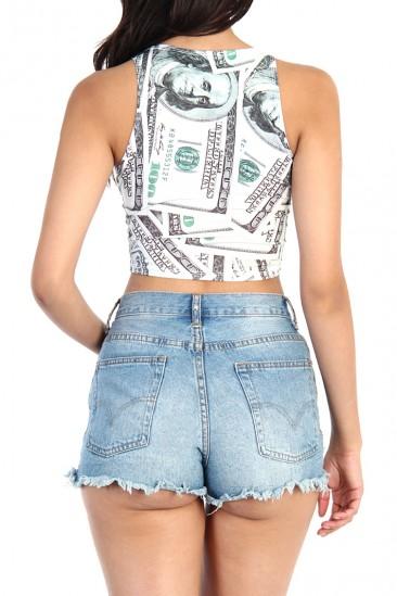 OMG Money Print Crop top