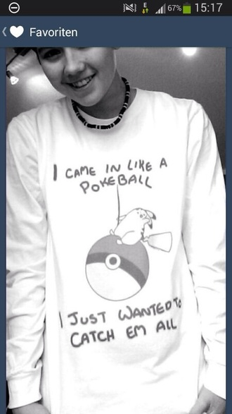 sweater sweatshirt tumblr tumblr clothes tumblr sweater pokemon miley cyrus miley c funny quote on it mens t-shirt menswear