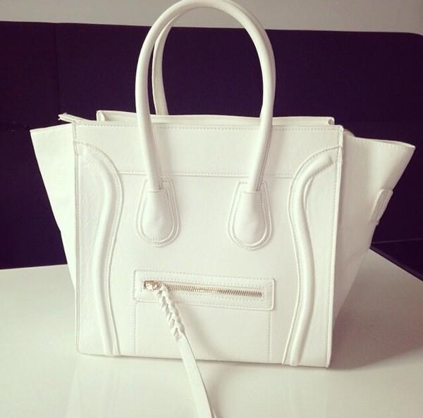 bag white bag celine bag celine paris white clutch purse