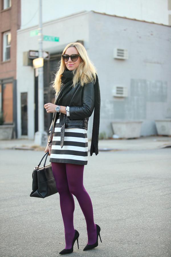 brooklyn blonde dress jacket scarf bag shoes