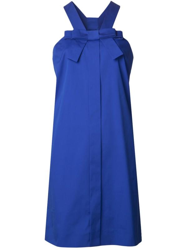 dress blue dress sleeveless dress bow dress viktor&rolf
