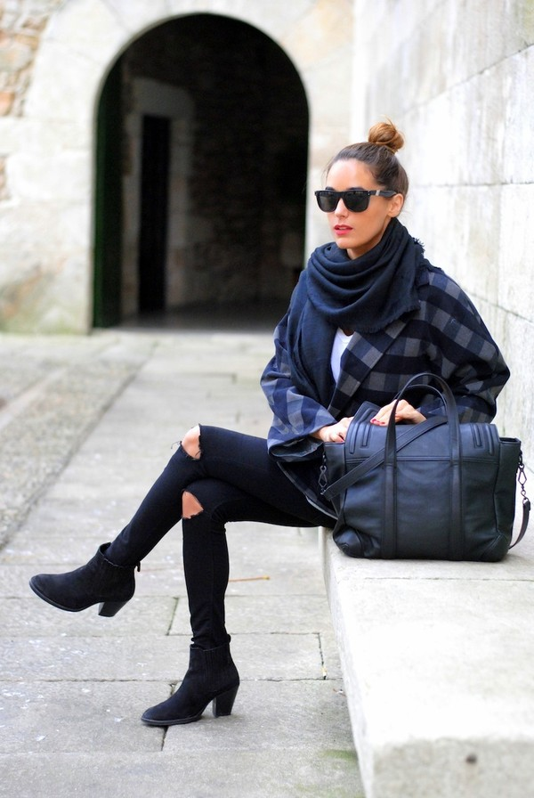 stella wants to die coat jeans bag t-shirt scarf shoes