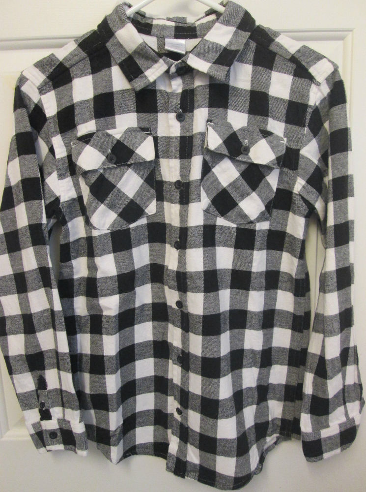 Gymboree Boys Snowboard Legend Black White Buffalo Check Flannel Shirt Large 10   eBay