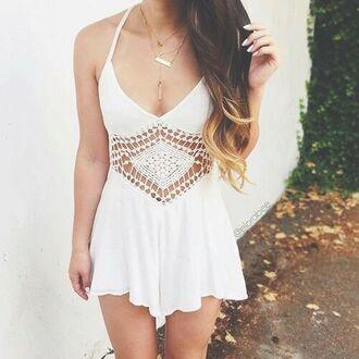 dress white white dress summer dress cute dress jewels boho boho chic boho jewelry bohemian jewelry necklace quartz crystal quartz layered gold necklace