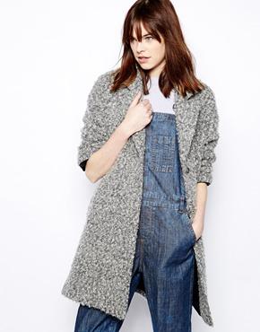 Helene Berman | Helene Berman Swing Coat in Textured Mohair Mix at ASOS