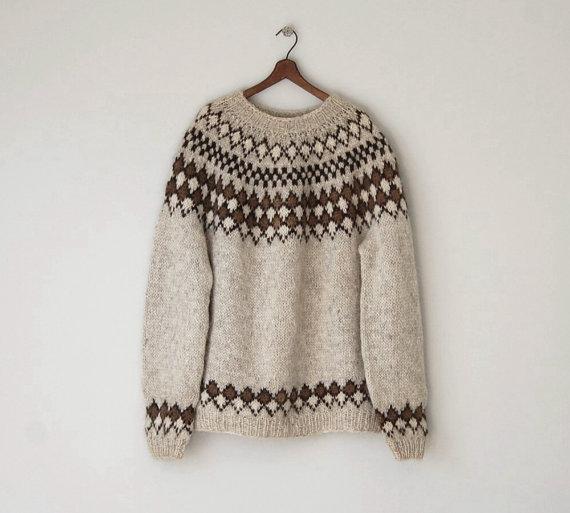 1970s Icelandic Wool Sweater / Vintage Oversized por reclaimer