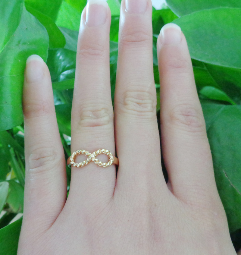 Fashion Gold Infinity 8 Bowknot Best Friend Letter Friendship Ring Wish Gifts | eBay