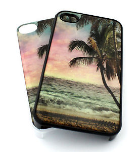 352 iPhone 4 4S Plastic Cover Snap Case Paradise Palm Trees Beach Ocean Anchor | eBay