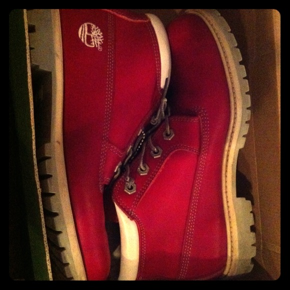 75% off Timberland Boots - Red Women's Timberland Boots 8.5 Used in Box from Ashley's closet on Poshmark