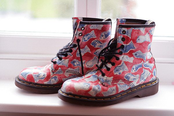 boots red boots printed boots shoes