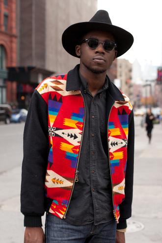 jacket navajo red jacket black jacket yellow jacket blue jacket purple jacket aztek indian theoneontheleftx theophilus hip hop hoodie sweatshirt