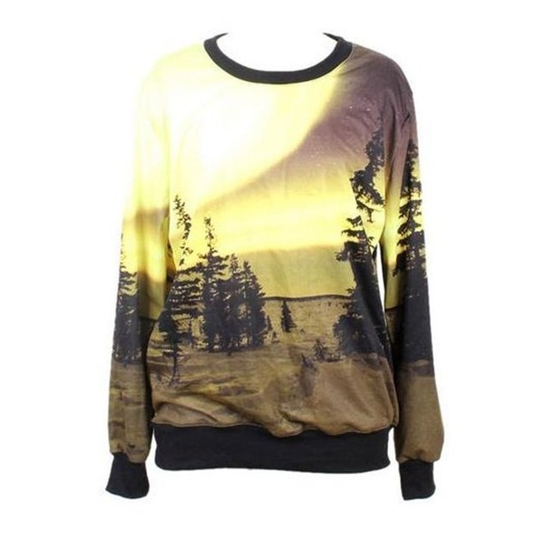 sweater picture screen print grunge