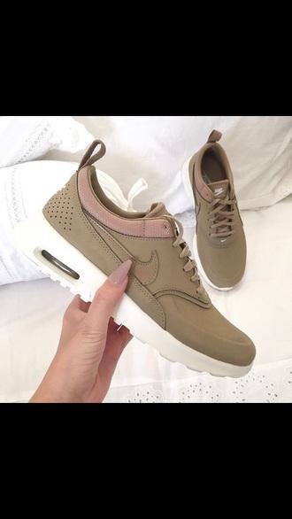sneakers nike shoes brown nude tan nike thea olive green running green nike shoes